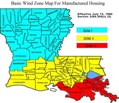 Windzone Map Mobile Homes